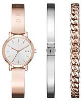 DKNY Women's 'SoHo' Quartz and Stainless-Steel-Plated Casual Watch, Color:Rose Gold-Toned (Model: NY2618)