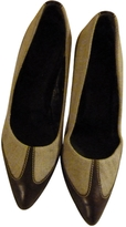 Max Mara Linen And Leather Pumps
