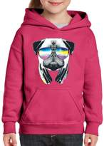 Xekia Pug Music Revision Fashion Music People Best Friend Matching Couples Gifts Hoodie For Girls - Boys Youth Kids