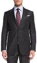 Ermenegildo Zegna Chalk-Striped Two-Piece Suit, Gray