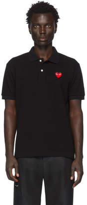 Comme des Garcons Black Heart Patch Polo