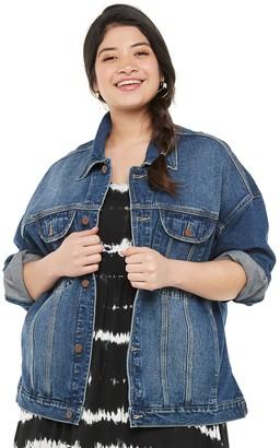 UNIONBAY Juniors' Plus Size Classic Oversized Denim Jacket