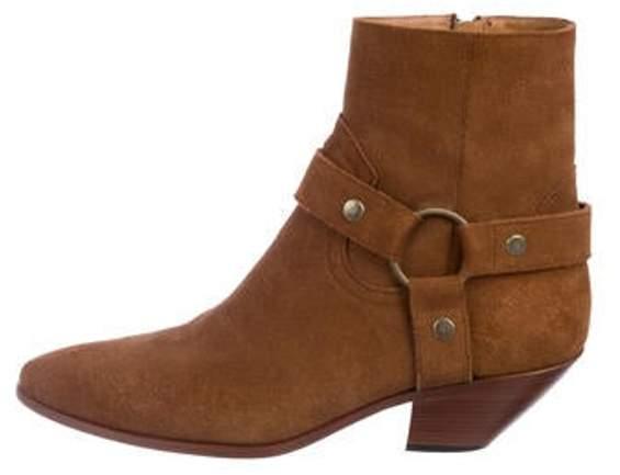 Saint Laurent West Suede Harness Boots West Suede Harness Boots