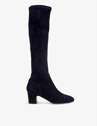 LK Bennett Kiran stretch-suede knee-high boots