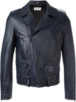 Saint Laurent classic motorcycle jacket - men - Cotton/Lamb Skin/Polyester/Cupro - 52