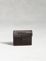 John Varvatos Leather Card Case With Coin Pouch