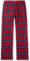 Sleepy Jones - Marcel Piped Checked Cotton-Flannel Pyjama Trousers