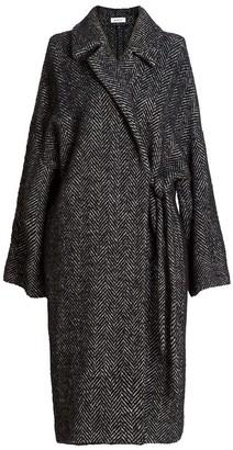 AILANTO Herringbone Oversize Coat