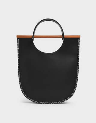 Charles & Keith U-Shaped Whipstitch Tote