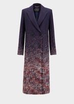 Versace Degrade Boucle Pencil Coat