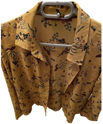 Comptoir des Cotonniers \N Yellow Silk Knitwear for Women