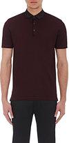 Lanvin Men's Piqué Polo Shirt-BURGUNDY