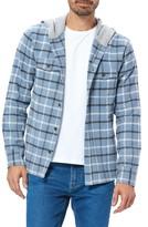 Paige Gavin Plaid Hooded Flannel Shirt Jacket