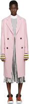 Emilio Pucci Pink Wool Double-Breasted Coat