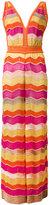 M Missoni zigzag maxi dress - women - Cotton/Polyamide/Polyester/Metallic Fibre - 40
