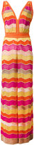 M Missoni zigzag maxi dress - women - Cotton/Polyamide/Polyester/Metallic Fibre - 42