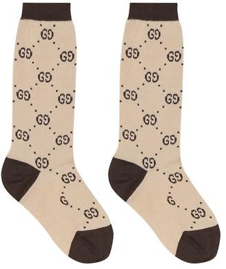 Gucci Kids GG cotton-blend socks