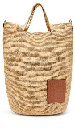 Loewe Paula's Ibiza - Top-handle Small Raffia Tote Bag - Beige