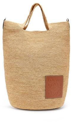 BEIGE Loewe Paula's Ibiza - Top-handle Small Raffia Tote Bag - Womens