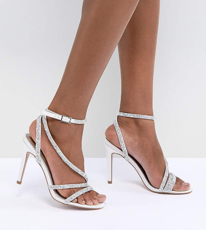 Asos Design DESIGN Hypnotic Bridal Embellished Heeled Sandals