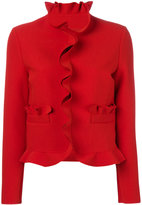 MSGM ruched trim jacket - women - Polyester/Spandex/Elastane/Viscose - 40