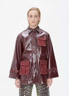 Ganni Patent Leather Jacket