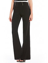 Calvin Klein Soft Twill Suiting Flare Leg Pants
