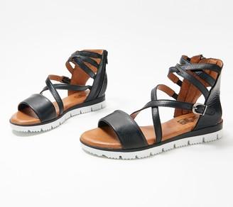 Miz Mooz Leather Cross-Strap Sandals - Shanley