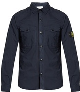 Stone Island Logo-patch Stretch-cotton Shirt