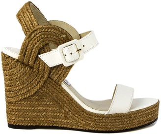 Jimmy Choo Latte Delphi Sandals