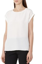Reiss Gina Silk-Front T-Shirt