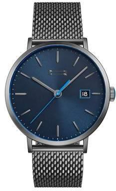 Uri Minkoff Norrebro Grey Tone Mesh Bracelet Watch, 40MM