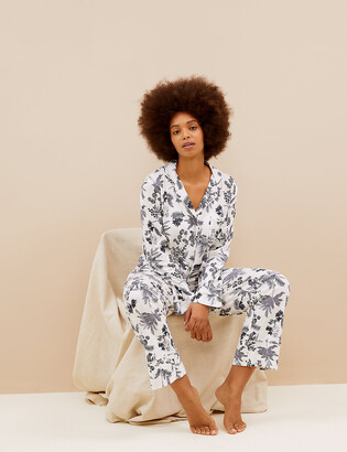 Marks and Spencer Cotton Modal Floral Pyjama Set