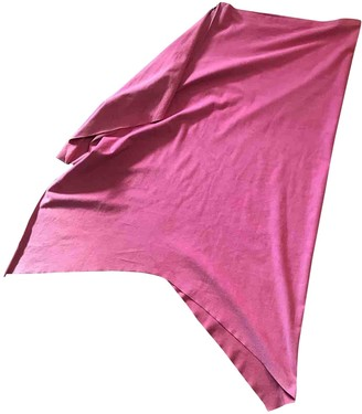 Maje Pink Suede Skirt for Women