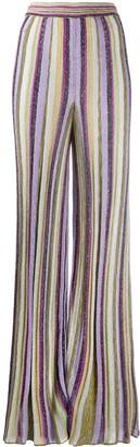 M Missoni Wide-Leg Knit Trousers