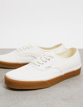 Vans Authentic sneaker with gum sole in marshmallow