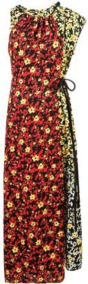 Proenza Schouler Multi Floral Asymmetrical Dress