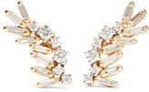 Suzanne Kalan 18-karat Yellow And White Gold Diamond Earrings