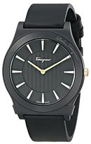 "Salvatore Ferragamo Men's FQ3020013 ""1898"" Ceramic Watch with Black Leather Band"
