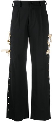 Seen Users Eyelet Side-Slit Trousers