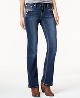 Project Indigo Juniors' Embroidered Bootcut Jeans