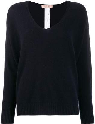 Twin-Set oversized V-neck jumper