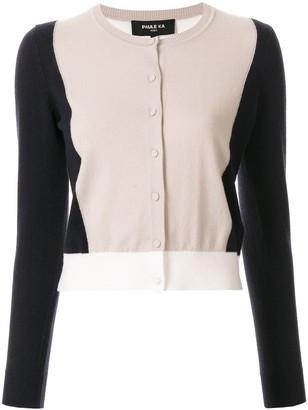 Paule Ka Colour-Block Fitted Cardigan