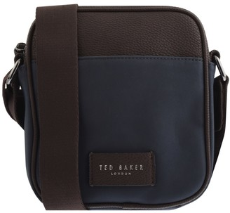 Ted Baker Nubuck Mini Flight Bag Navy