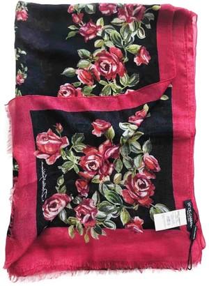 Dolce & Gabbana Red Cashmere Scarves