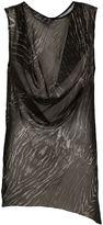 Ann Demeulemeester draped sleeveless top