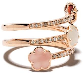 Pasquale Bruni 18kt rose gold Figlia dei Fiori chalcedony, garnet, moonstone and diamond ring