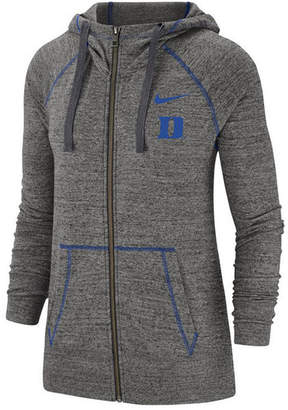 Nike Women Duke Blue Devils Gym Vintage Full-Zip Jacket