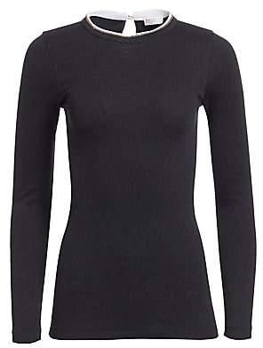 Brunello Cucinelli Women's Long-Sleeve Crewneck Sweater