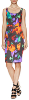 Milly Sophia Cotton Printed Midi Dress